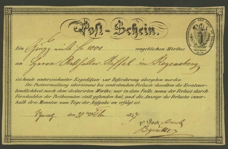 Postscheine der Schweiz 0132