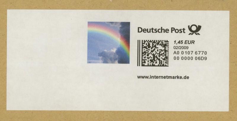 Internetmarken aus Deutschland 0134