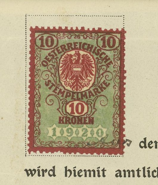 Die Verwendung von Fiskalmarken in Österreich 02_mar10