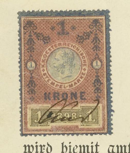 Die Verwendung von Fiskalmarken in Österreich 03_mar10