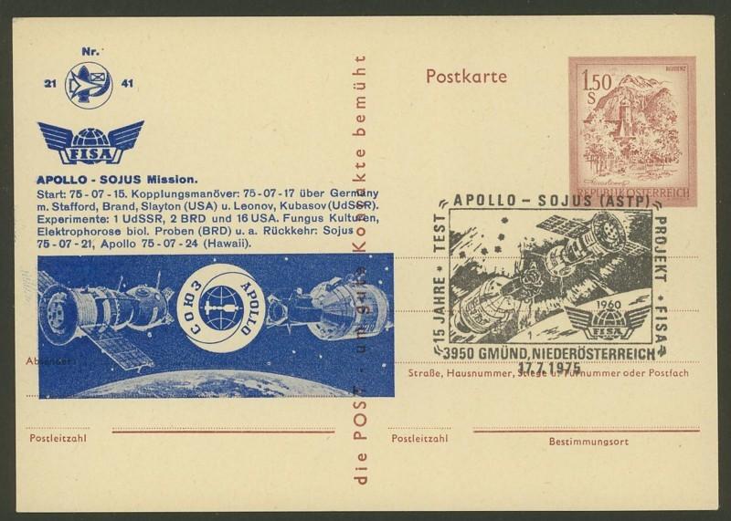 Zudrucke der Astro-Philatelie auf Ganzsachen-Postkarten 05_p_410