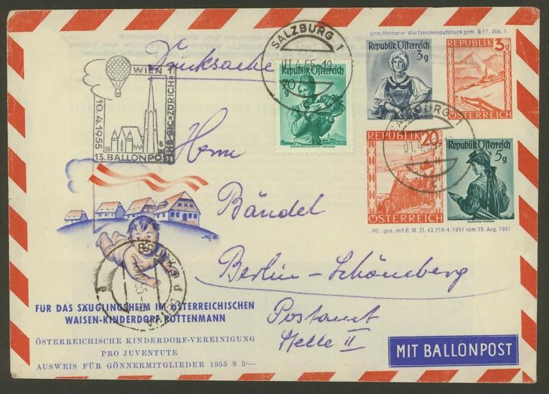 ballonpost - Die Privatganzsachen der österreichischen Ballonpost 1000110