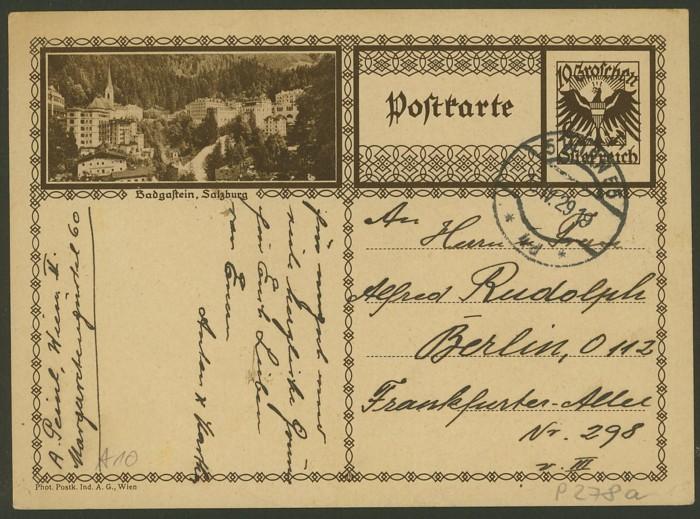Bildpostkarten Österreich  -  Mi. P 278 10_20010