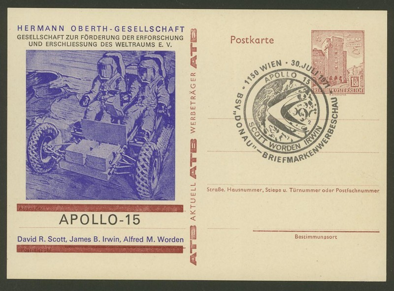 Zudrucke der Astro-Philatelie auf Ganzsachen-Postkarten 10_p_410