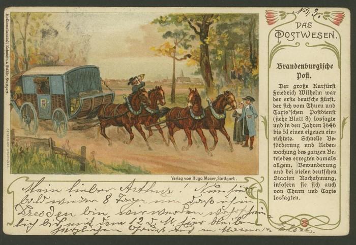 Das Postwesen  (Auszüge aus einer Postkartenserie) 110