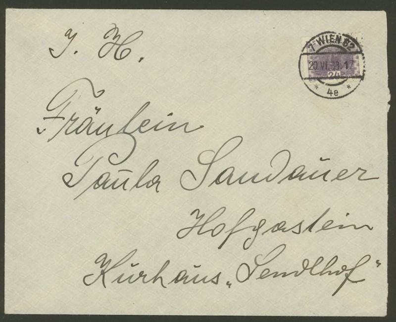 Ältere Briefe von Österreich  -  nett anzuschauen 112