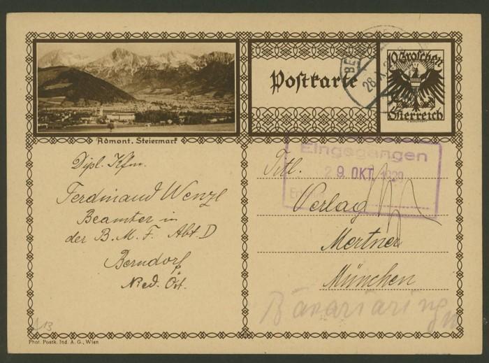 Bildpostkarten Österreich  -  Mi. P 278 13_20010