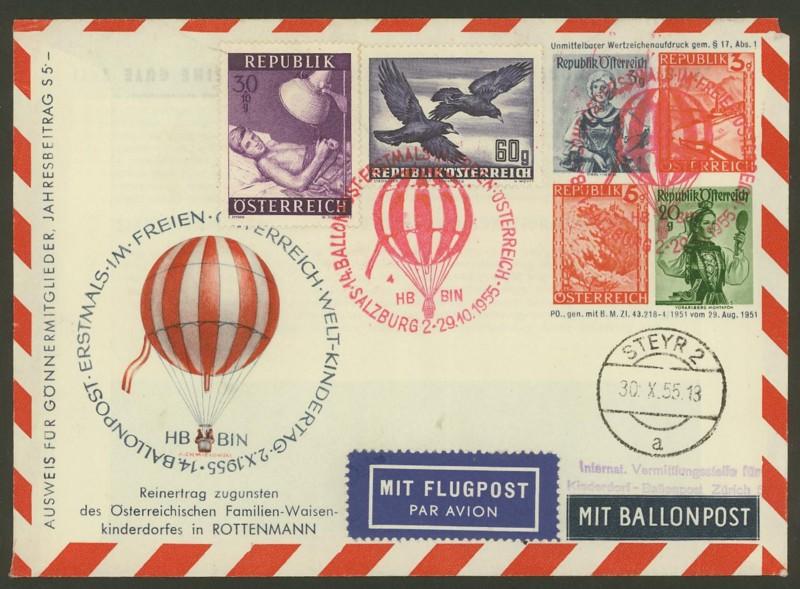 ballonpost - Die Privatganzsachen der österreichischen Ballonpost 2000110