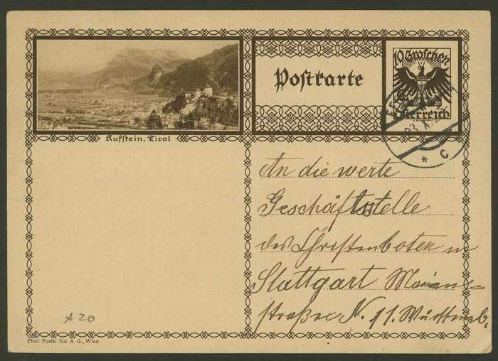 Bildpostkarten Österreich  -  Mi. P 278 20_20010