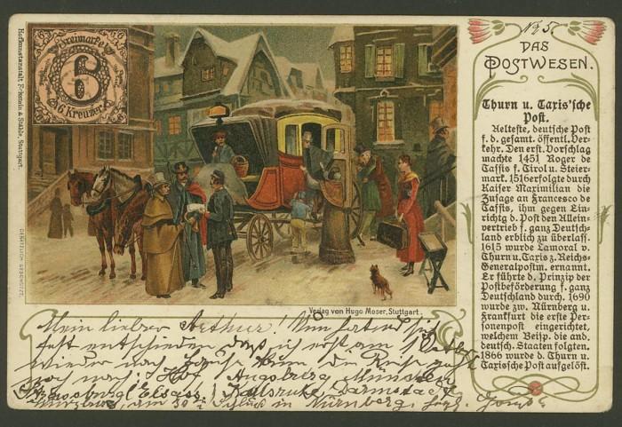 Das Postwesen  (Auszüge aus einer Postkartenserie) 210