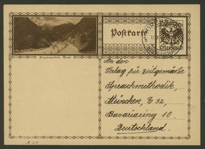 Bildpostkarten Österreich  -  Mi. P 278 21_20010