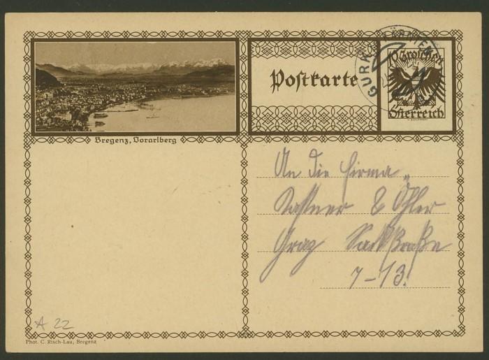 Bildpostkarten Österreich  -  Mi. P 278 22_20010