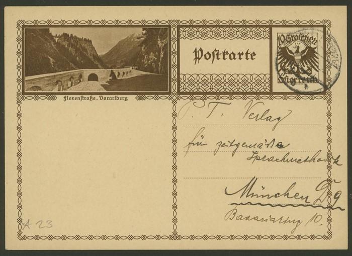 Bildpostkarten Österreich  -  Mi. P 278 23_20010