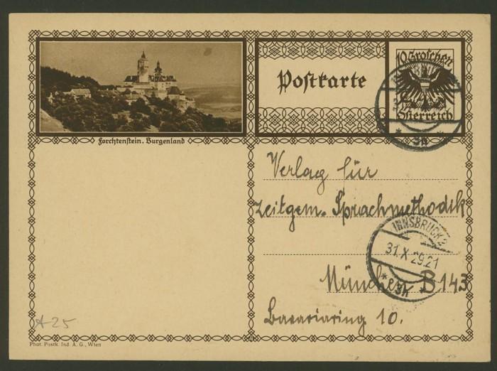Bildpostkarten Österreich  -  Mi. P 278 25_20010