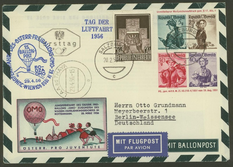 ballonpost - Die Privatganzsachen der österreichischen Ballonpost 3000110
