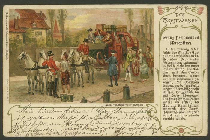 Das Postwesen  (Auszüge aus einer Postkartenserie) 310