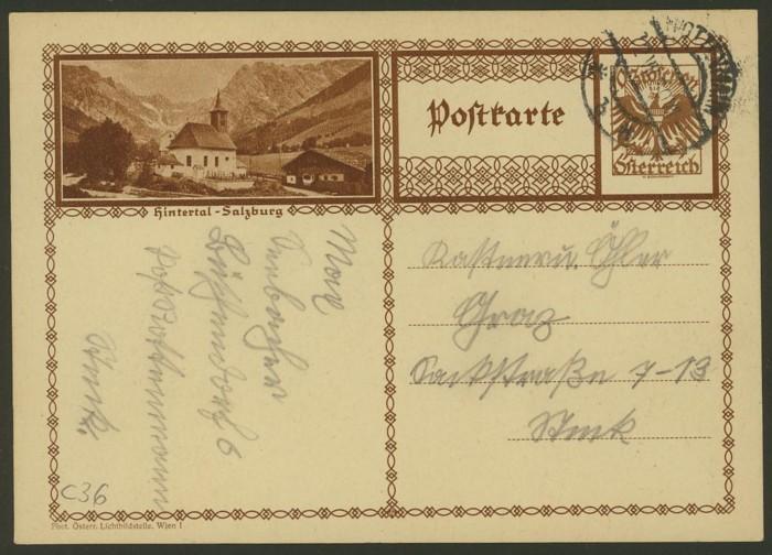 Bildpostkarten Österreich  -  Mi. P 278 36_20010