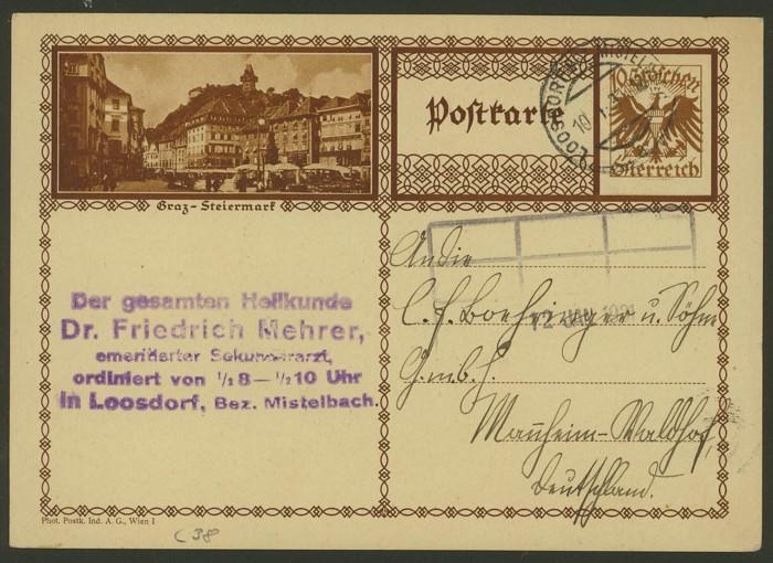 Bildpostkarten Österreich  -  Mi. P 278 38_20010