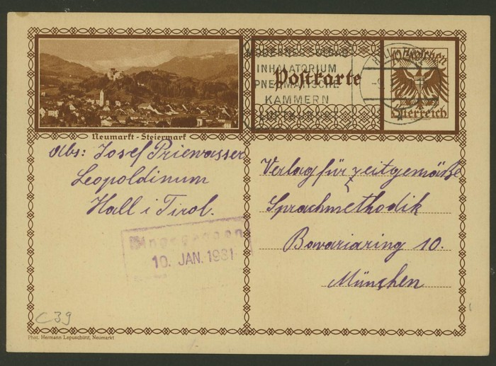 Bildpostkarten Österreich  -  Mi. P 278 39_20010