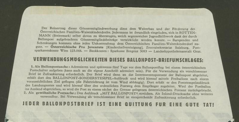 ballonpost - Die Privatganzsachen der österreichischen Ballonpost 3_10