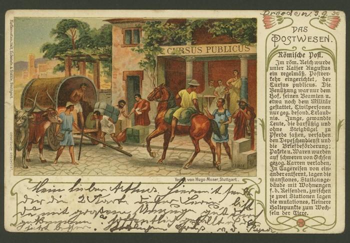 Das Postwesen  (Auszüge aus einer Postkartenserie) 410