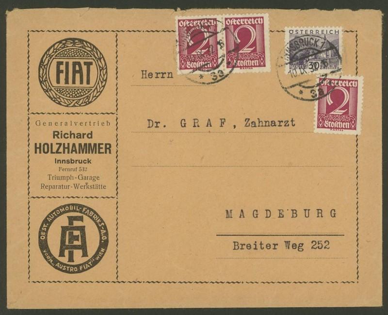 Ältere Briefe von Österreich  -  nett anzuschauen 411