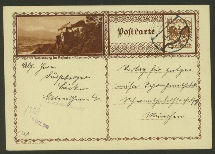 Bildpostkarten Österreich  -  Mi. P 278 41_20010