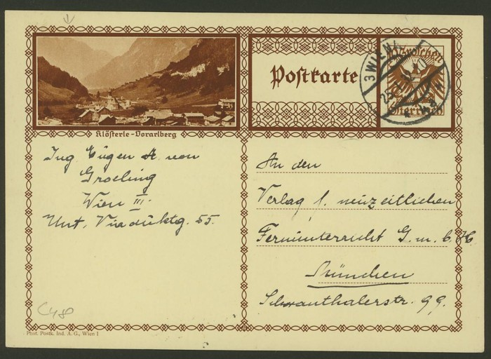 Bildpostkarten Österreich  -  Mi. P 278 48_20010