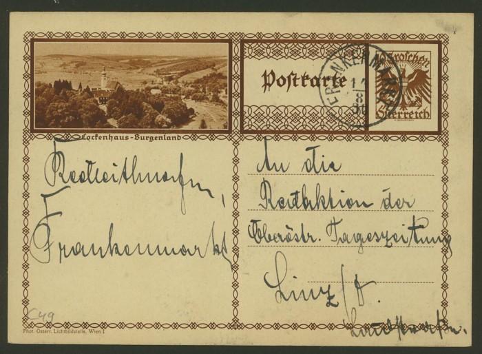 Bildpostkarten Österreich  -  Mi. P 278 49_20010