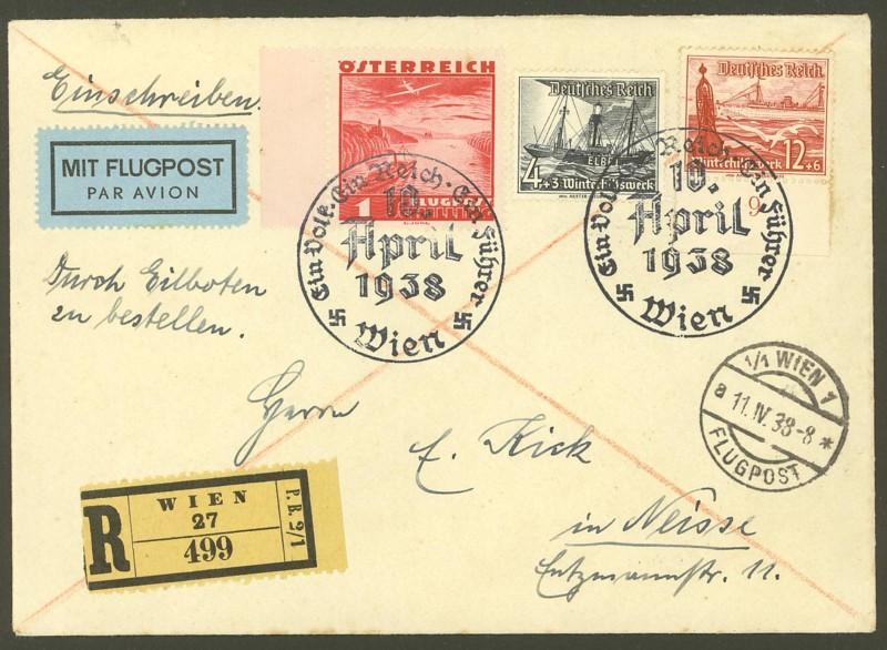 Ältere Flugpost aus Wien 60810