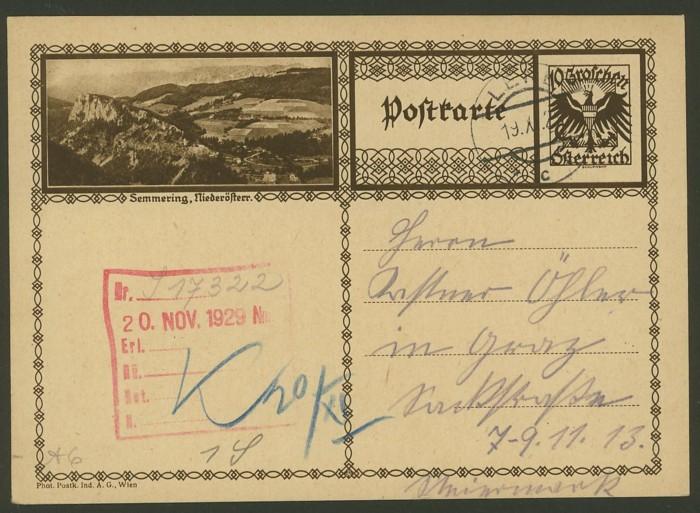 Bildpostkarten Österreich  -  Mi. P 278 6_20010