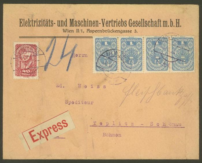 Republik Deutsch-Österreich  -  Bedarfspost Dez. 1918 - Dez. 1921 A_beda10