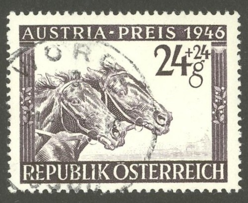 Horses / Pferde (Marken auf Brief oder Karte) At-pfe11