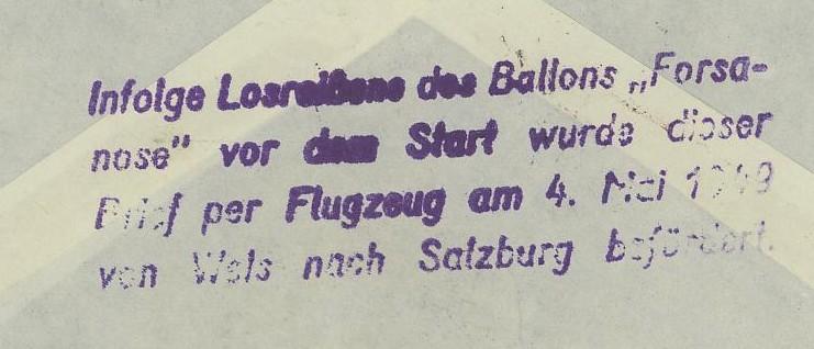 Die Privatganzsachen der österreichischen Ballonpost Ballon13