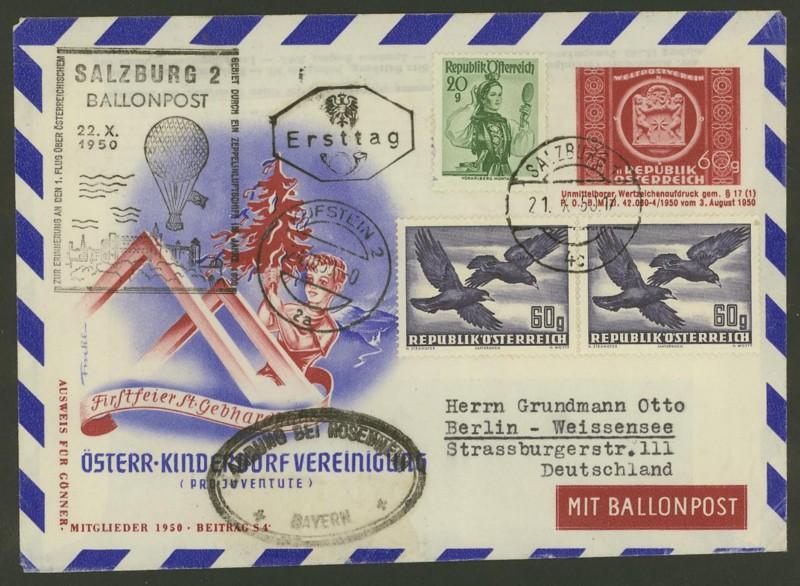 ballonpost - Die Privatganzsachen der österreichischen Ballonpost Ballon17