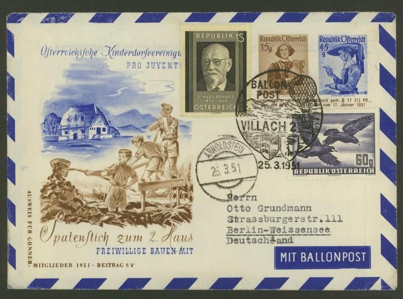 ballonpost - Die Privatganzsachen der österreichischen Ballonpost Ballon18