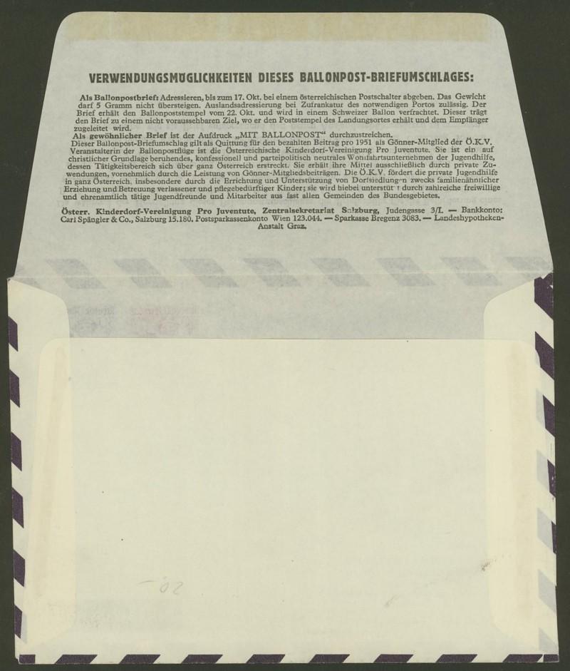 ballonpost - Die Privatganzsachen der österreichischen Ballonpost Ballon23