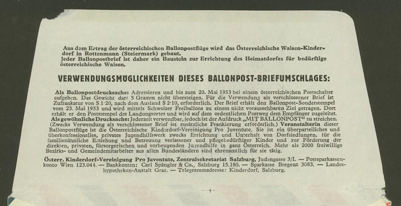 Die Privatganzsachen der österreichischen Ballonpost Ballon28