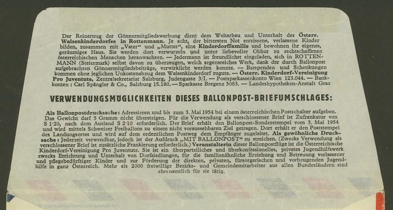 Die Privatganzsachen der österreichischen Ballonpost Ballon30