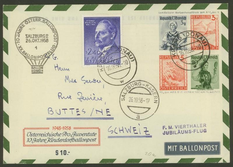 Die Privatganzsachen der österreichischen Ballonpost Ballon39