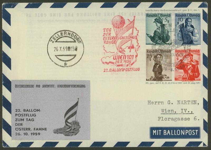 ballonpost - Die Privatganzsachen der österreichischen Ballonpost Ballon43