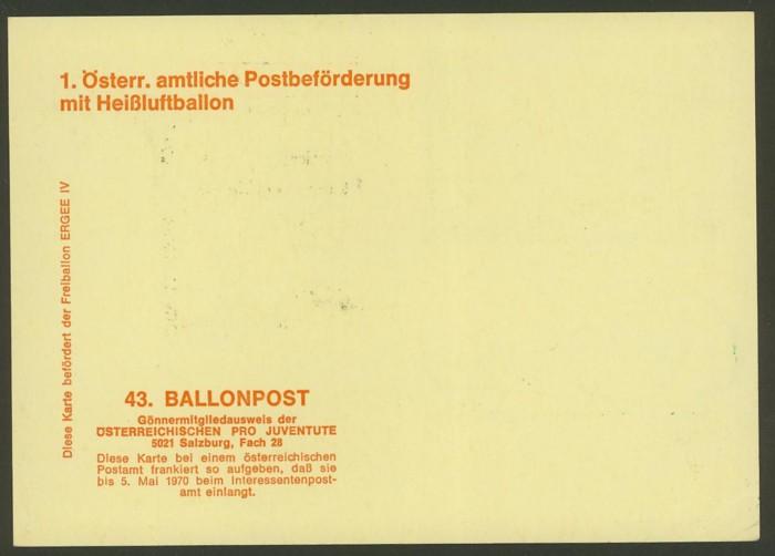 Die Privatganzsachen der österreichischen Ballonpost Ballon47