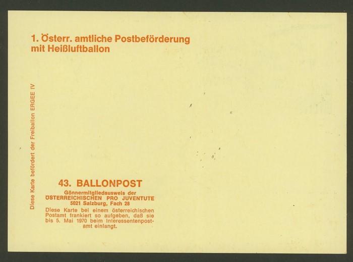 Die Privatganzsachen der österreichischen Ballonpost Ballon49