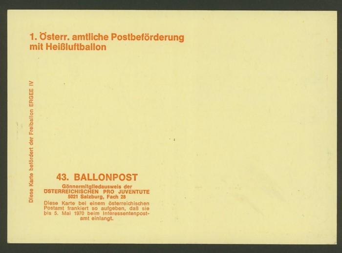 Die Privatganzsachen der österreichischen Ballonpost Ballon51