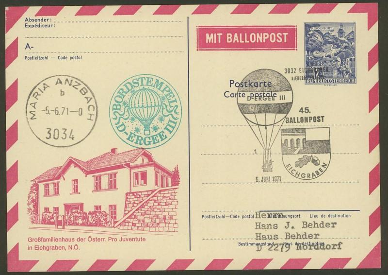 ballonpost - Die Privatganzsachen der österreichischen Ballonpost Ballon52
