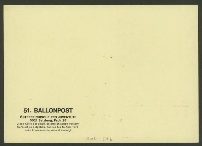 Die Privatganzsachen der österreichischen Ballonpost Ballon57