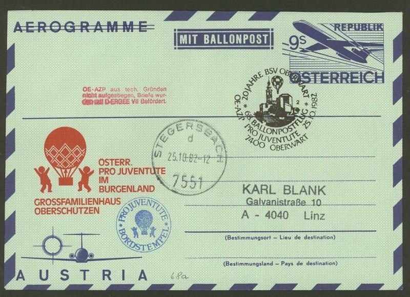 ballonpost - Die Privatganzsachen der österreichischen Ballonpost Ballon60