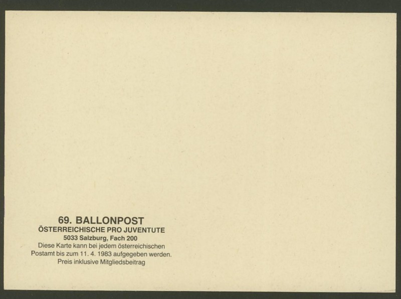 Die Privatganzsachen der österreichischen Ballonpost Ballon63