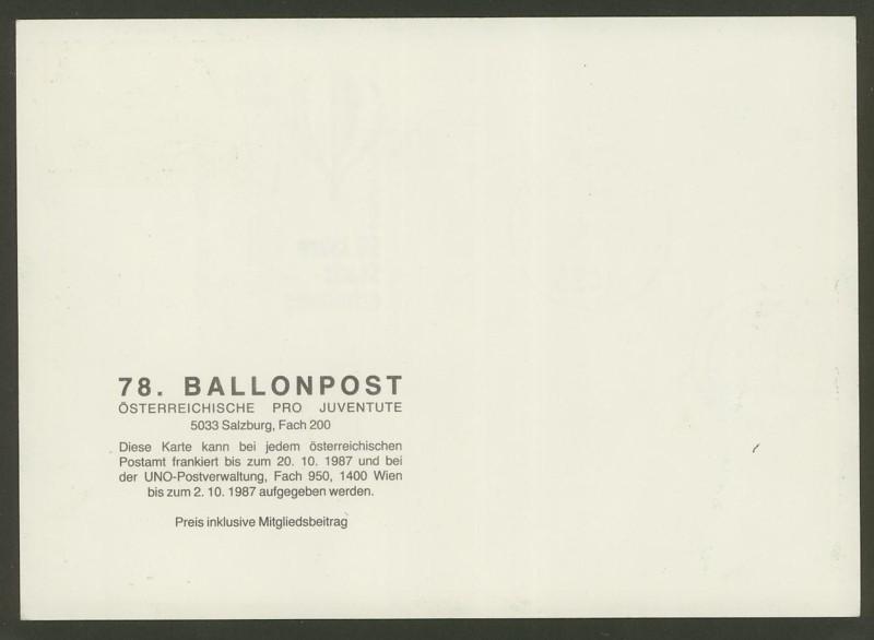 Die Privatganzsachen der österreichischen Ballonpost Ballon69
