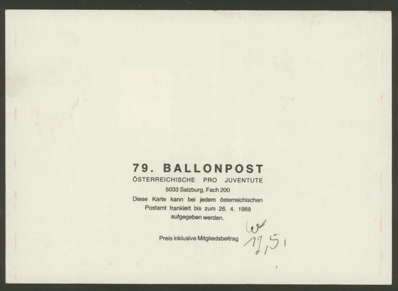Die Privatganzsachen der österreichischen Ballonpost Ballon71